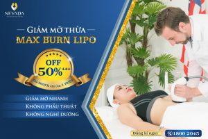 Giảm mỡ thừa Max Burn Lipo – OFF 50%++ tặng đả thông kinh lạc