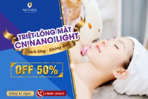 OFF 50% Triệt lông mặt CN Nano Light: Sạch lông – Không đau rát