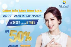 Khuyến mãi tháng 11, OFF 50%+ dịch vụ giảm mỡ CN Max Burn Lipo