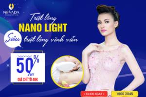 """[499K SAU ƯU ĐÃI] Triệt Lông Công Nghệ Nano Light: """"Bái Bai"""" Vi-ô-lông"""