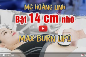 Cùng MC Hoàng Linh trải nghiệm công nghệ giảm cân Max Burn Lipo