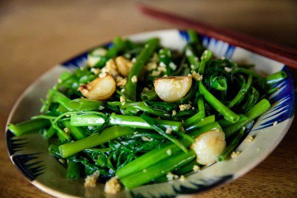 ăn rau muống có giảm cân không, ăn rau muống luộc có giảm cân không, ăn rau muống có giảm cân được không, giảm cân có nên ăn rau muống