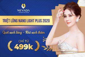 """[499K SAU ƯU ĐÃI] Triệt lông CN Nano Light Plus 2020: Chỉ 499k """"Bái Bai"""" Vi-ô-lông"""