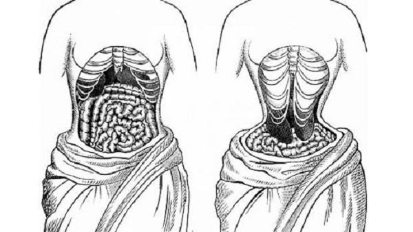 gen nịt bụng, tác hại của gen nịt bụng, chèn ép